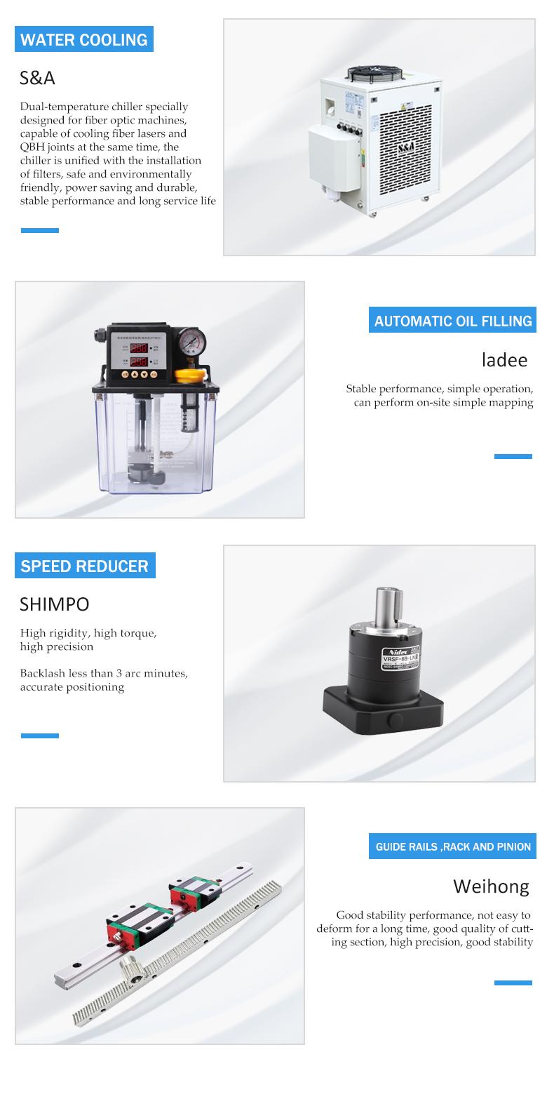 Main accessories of pipe cutting machine